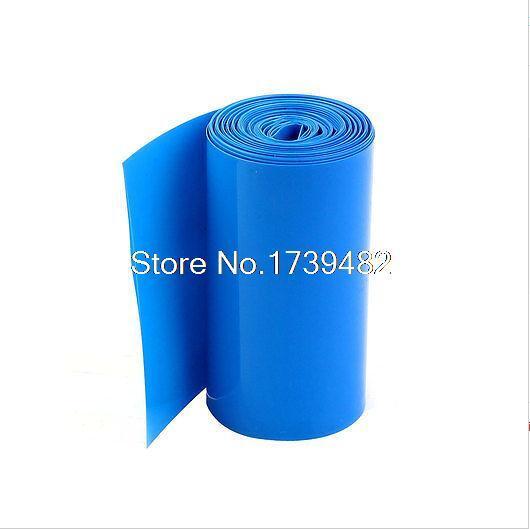 Blue PVC Heat Shrink Tubing Flat width 7mm ~ 500mm lot