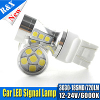 1pair DC12 24V T20 7443 7440 White 5W LED Bulbs For Car LED Bulbs W21W W21