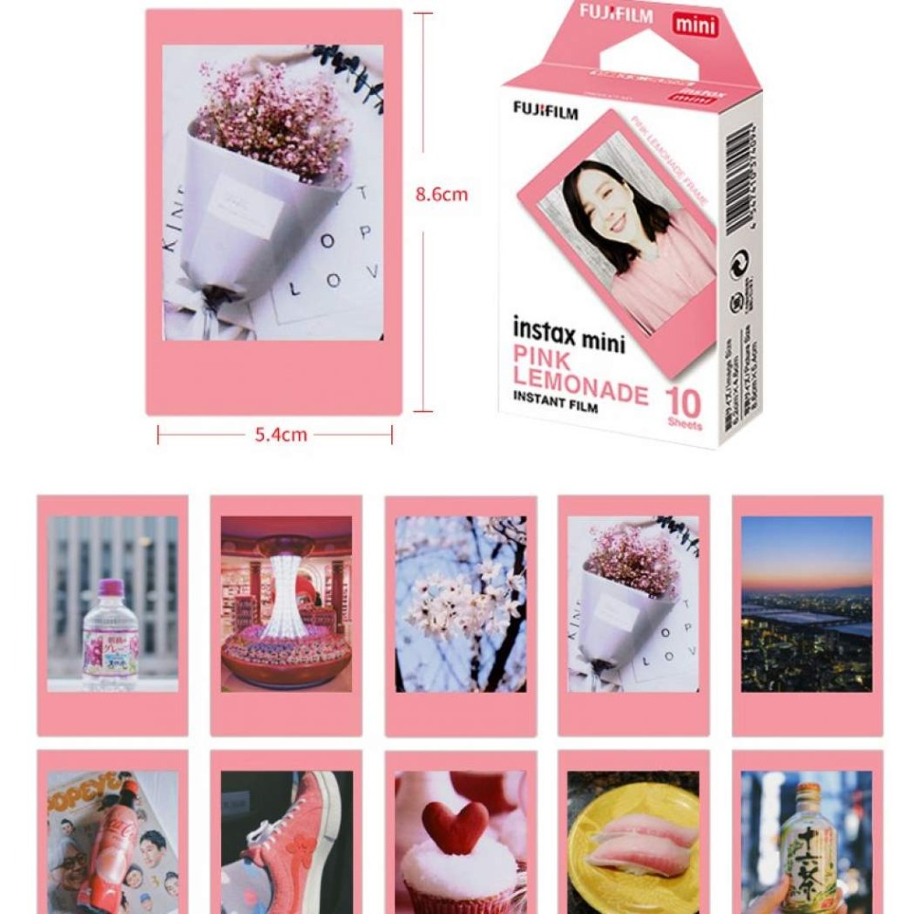 Original-Fujifilm-Pink-frame-Instax-Mini-Instant-10-sheets-Color-Mini-Film-for-Polaroid-Mini-7s