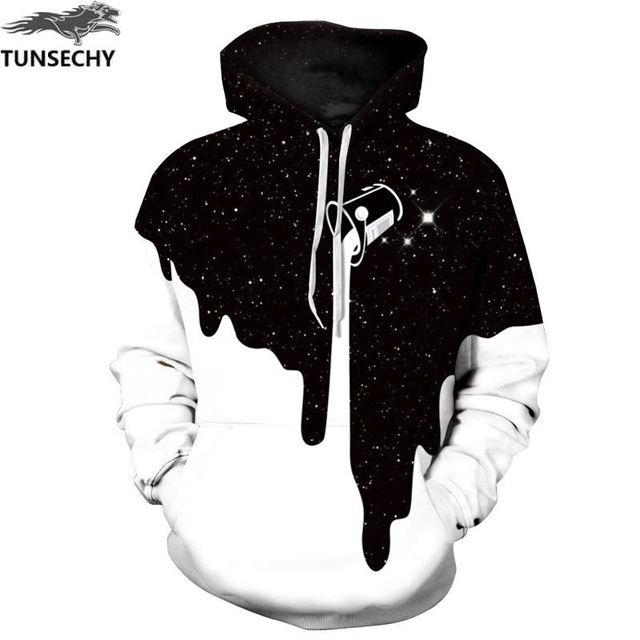 Tunechy moda caliente hombres/mujeres 3D sudaderas estampado leche espacio galaxia sudaderas con capucha Unisex Tops venta al por mayor y al por menor