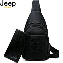 Jeep buluo homens crossbody sacos de couro de alta qualidade saco peito para o jovem moda casual masculino sling sacos viagem bolsa de ombro