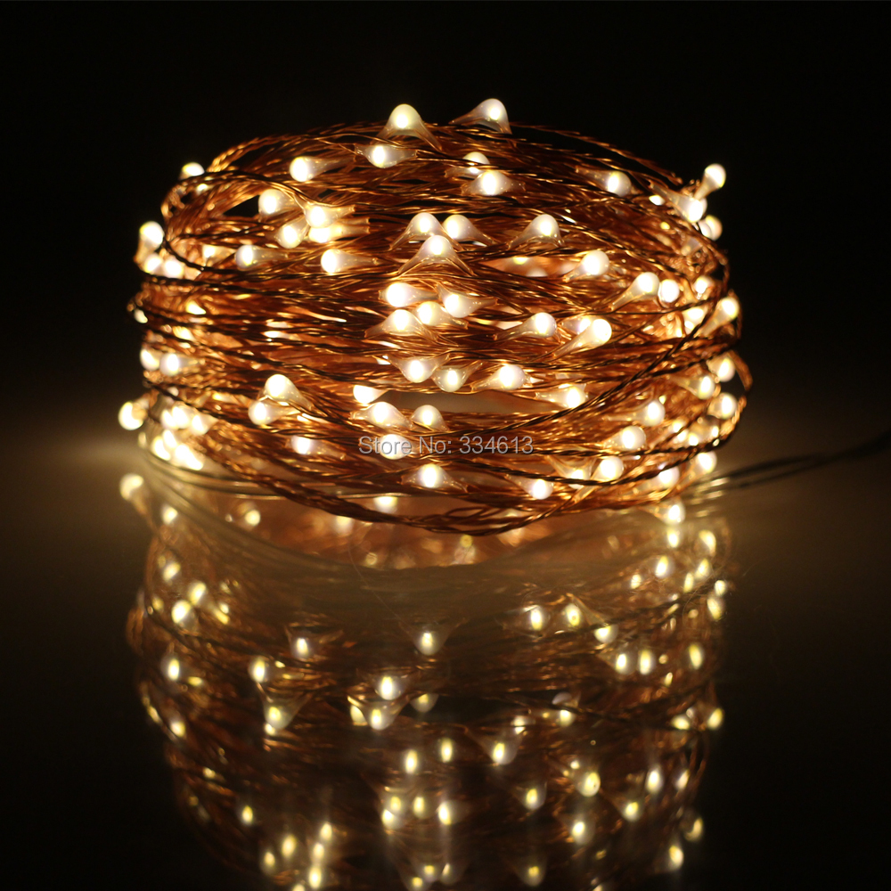 10M 100LED / 20M 200LED Waterproof USB Fairy String Lights Copper Wire Warm White Christmas Holiday Indoor Party Starry Lights