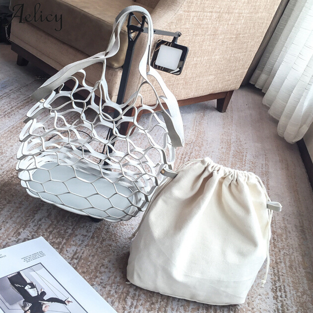 Bags For Girls Canvas Handed Netbath Bucket Handbag Lady Fashionable String Shopping Travel Shoulder Bag