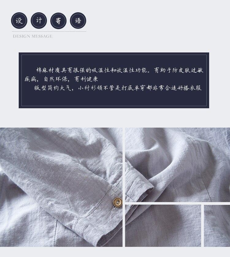 Plus Size M-5XL 100% Cotton Linen Solid Shirts Leisure Business Men Shirts Half Sleeve Slim Cardigan Turn-down Collar Shirt Men