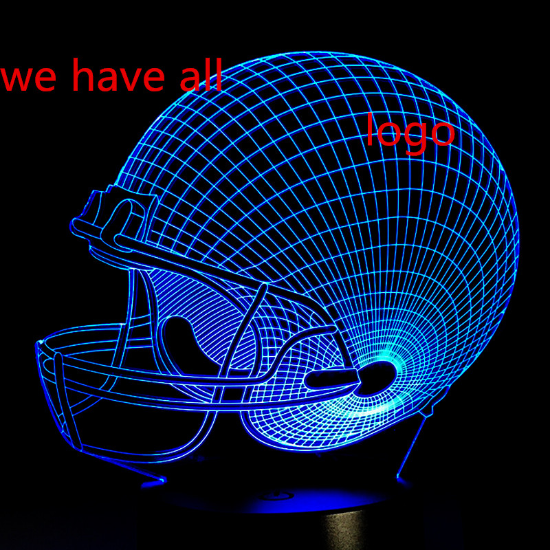 Luzes da Noite capacete de rugby dallas cowboy Shipping : China Post Free Shipping
