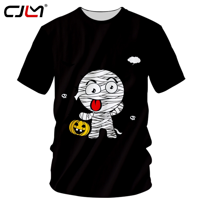 CJLM Halloween Man Anime 3D Printed Tee Shirt Munny And Pumpkin Autumn And Winter New Style Men's Big Size O Neck Tshirt