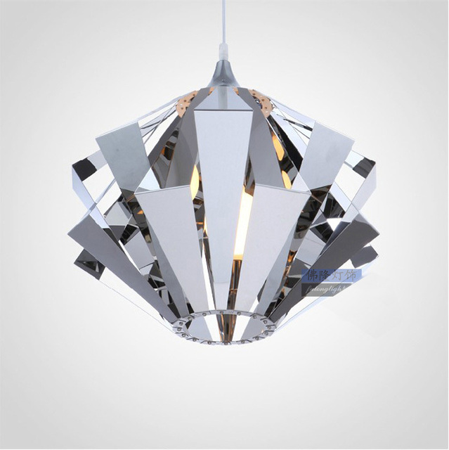 New Modern Stainless Steel Dining Room Pendant Light Contemporary Alternative Bedroom Lamp Living Hanging
