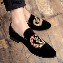 Dress-Shoes Italian Coiffeur Classic Office Men Elegant Brand Meskie Embroidery Buty