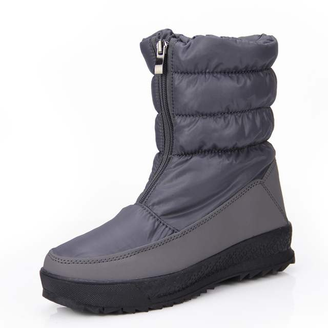 0df73e6c Zapatos De Mujer Snow Boots 2018 New Women Winter Thicken Boots Nylon  Platform Ankle Boots Zipper Warm Down Botas-in Ankle Boots from Shoes on ...