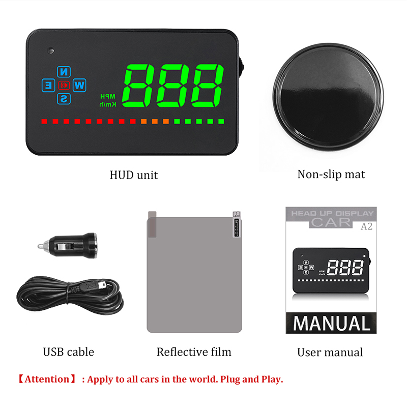 Image 5 - Compatible with All Car Speed Projector GPS Digital Car Speedometer A2 Electronics Head Up Display Auto HUD Windshield Projector-in Head-up Display from Automobiles & Motorcycles