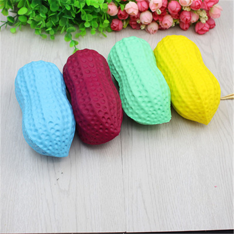 Soft Cute Peanut  Slow Rising Squeeze Phone Straps Ballchains Stress Cheap Stuff Toys For Children Gift