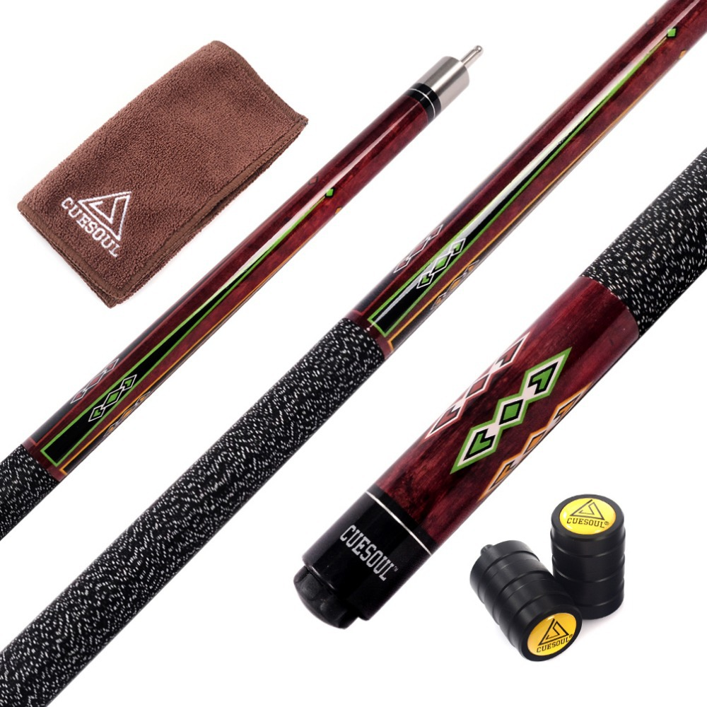 Cuesoul Special Price Billiard Cue 57 Inch Canadian Maple Wood 1/2 Jointed Pool Cue Stick With 13mm Cue Tips