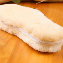 High Quality Unisex Breathable Plush Shoe pad Warm Insoles Thickened Anti-cold Winter Wool Blend Insoles for snow boot(China)