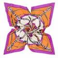 2016 mulheres de seda lenço 130 * 130 cm mulher grande praça sarja 100% seda cachecol marca grande de seda de impressão xales cachecóis wraps pashminas