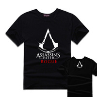 2017 assassin creed rogue t-shirts anime t-shirts mannen top hot game karakter tees vrouwen meisjes clothing
