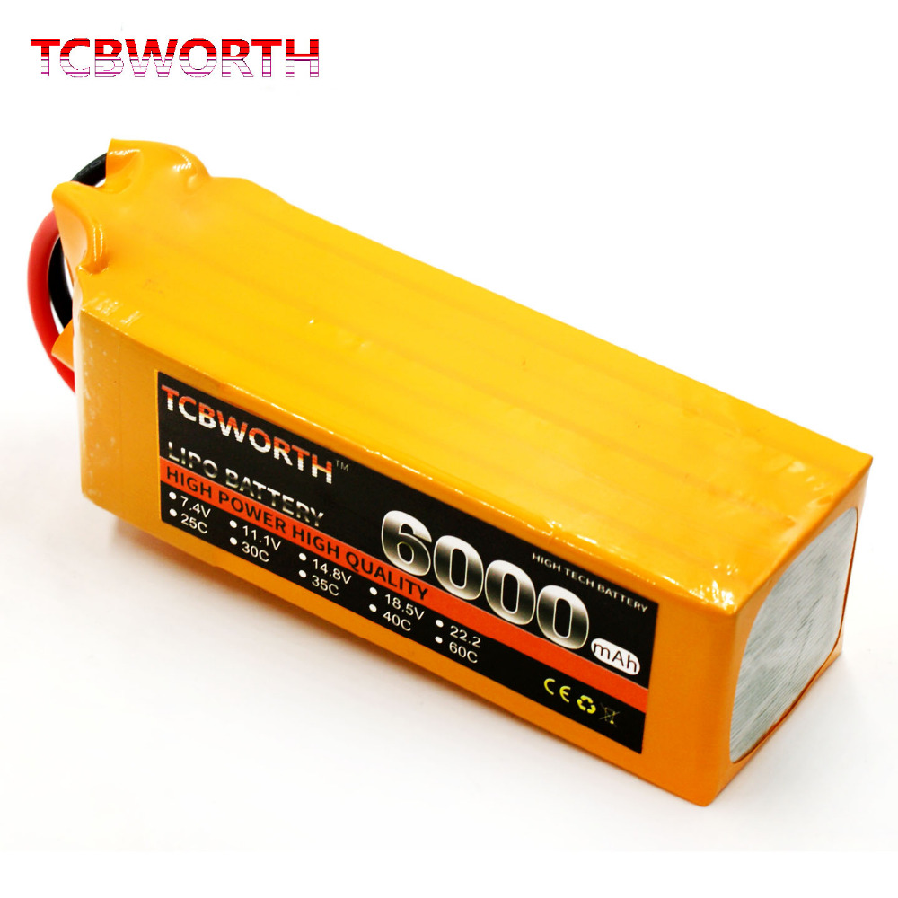 TCBWORTH RC Drone LiPo battery 6S 22.2V 6000mAh 60C For Airplane Helicopter Quadrotor Car Li-ion battery tcbworth rc helicopter lipo battery 6s 22 2v 2800mah 60c max 120c for rc airplane quadrotor drone li ion battery