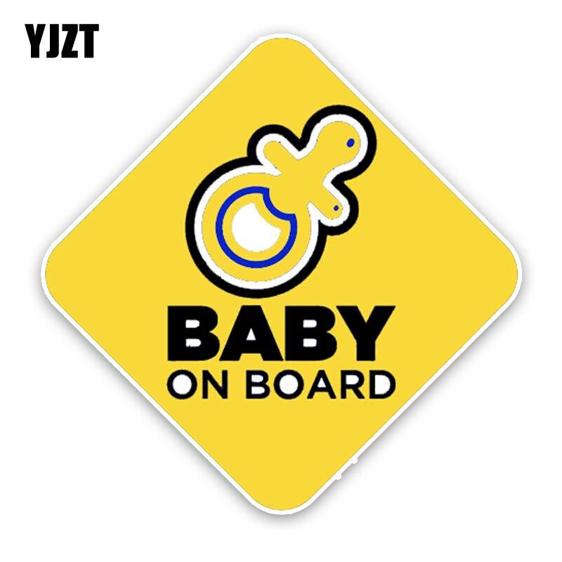 Yjzt 13.5*13.5 см интересный автомобиль Стикеры Предупреждение знак Цветной мультфильм детские на борту украшения мото наклейки c1-5606