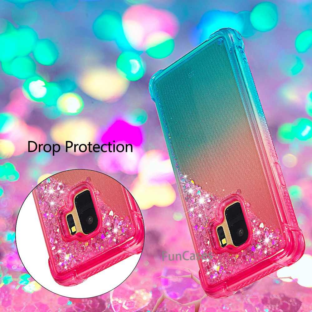 S9 Cute Cartoon Winnie Pooh Stitch Mickey Minnie Glitter Liquid quicksand Case For Samsung Galaxy S9 Stitch fornite Cover
