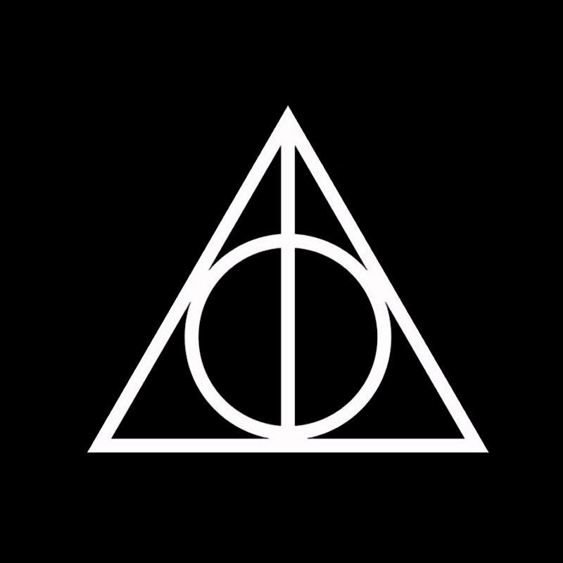Harry Potter Vinyl Car Window Decal Deathly Hallows Symbol Sticker
