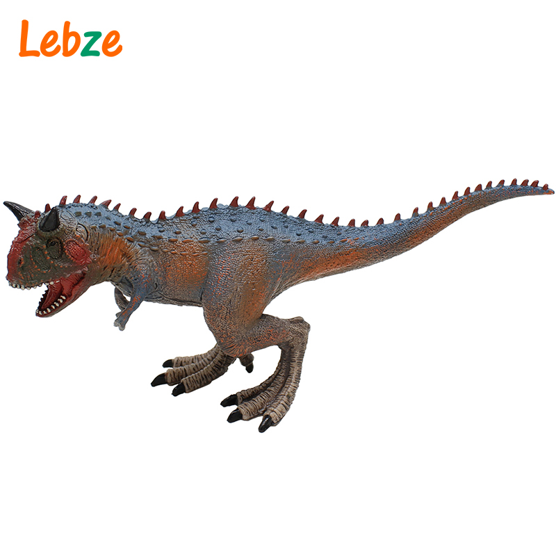 Carnotaurus Figure Non-toxic Rubber Realistic Dino Toy For Collection Gift For Children 21x11x6cm