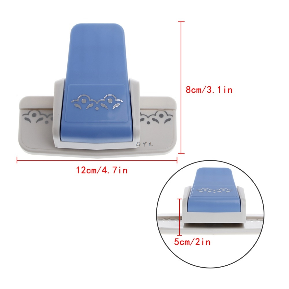 1 PC New Fancy Border Punch S Flower Design Embossing Punch Scrapbooking Handmade Edge Device DIY Paper Cutter Craft Handmade