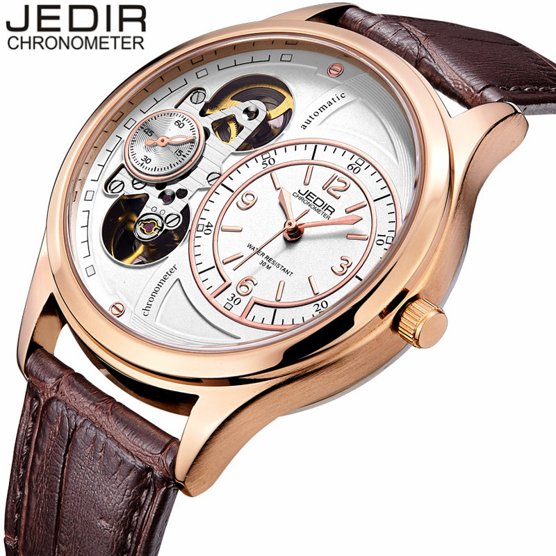 JEDIR Men Sports Watches Army Military Waterproof Wristwatch Leather Strap Mechanical Watch relogio masculino gifts reloj O12 weide new men quartz casual watch army military sports watch waterproof back light men watches alarm clock multiple time zone