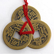 1 Set Of 3 Chinese Feng Shui Emperor Coins For Wealth And Success