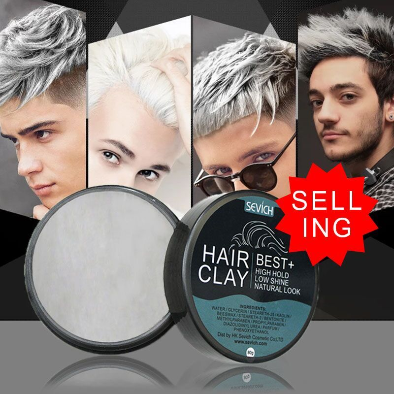 hair clay high hold low shine hair wax natural look for man make fashion cool hair style 80g best styling strong hold daily usehair clay high hold low shine hair wax natural look for man make fashion cool hair style 80g best styling strong hold daily use