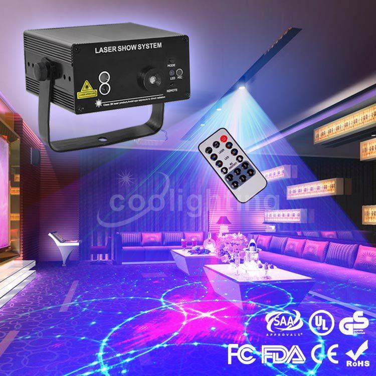 ФОТО The latest high-quality KTV remote red mini lamp 24 patterns bar green laser lights Christmas lights