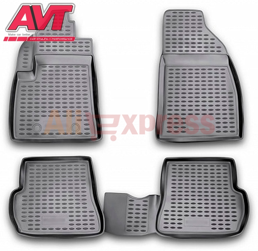 Floor mats case for Ford Fusion 2002 2009 4 pcs rubber rugs non slip rubber interior