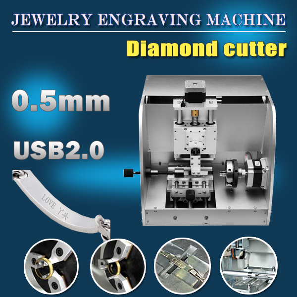 Mini Cnc Jewelry Engraving Machine Gold And Silver Necklace Ring Inside And Outside Engraving Mchine For Home Business And Craft
