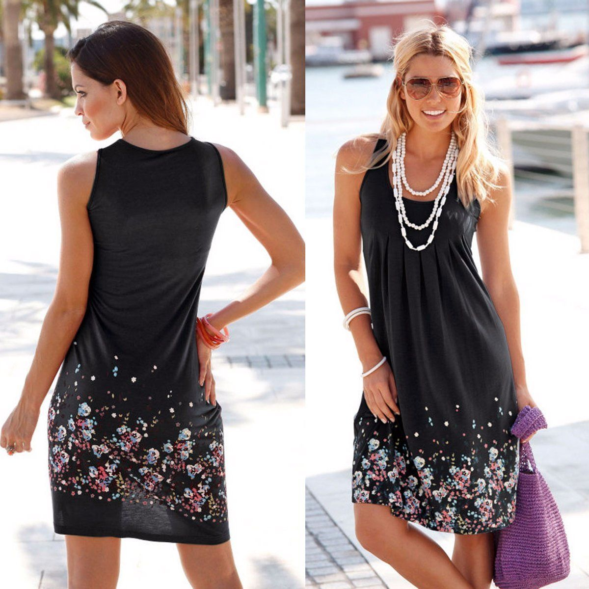 women dress 2016 summer dresses new brand plus size casual female clothing sleeveless party midi. Black Bedroom Furniture Sets. Home Design Ideas