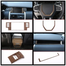 Sands Wood Grain ABS For Land Rover Discovery Sport 15-17 Car All Kinds of Interior Cover Trim Frame Decoration Styling