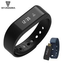 Vestmadra i5 плюс смарт-браслет Фитнес трекер здоровье браслет Bluetooth Шагомер умный Группа сна Мониторы Смарт-часы