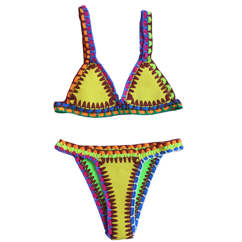 2017 nuovo bikini alluncinetto donne patchwork costumi da bagno micro costume da bagno perizoma