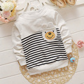 Spring Autumn Baby Boy Clothes Infantis Tops Tee Enfant Camisa Children T-Shirts cartoon bear striped T Shirt Kids Clothing