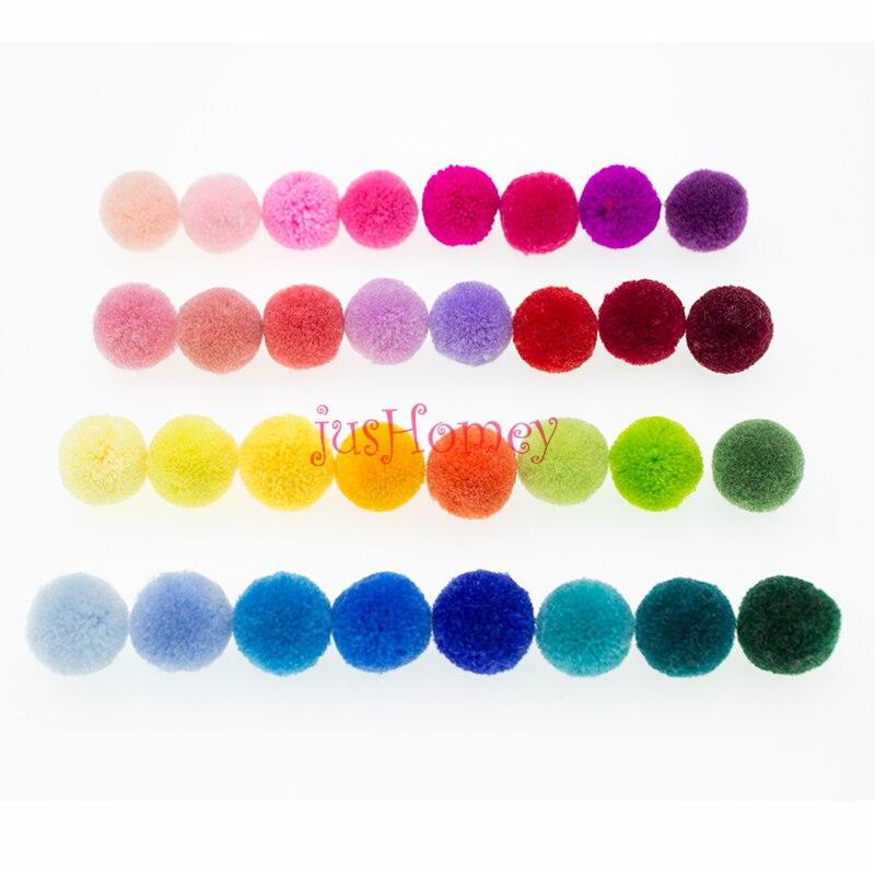 Leuk 30 Pcs 20mm Handgemaakte Garen Craft Ballen Gemengde Kleuren Pom Pom Ballen Voor Diy Sieraden Maken, Boho Versiering, Party Decoratie Keuze Materialen