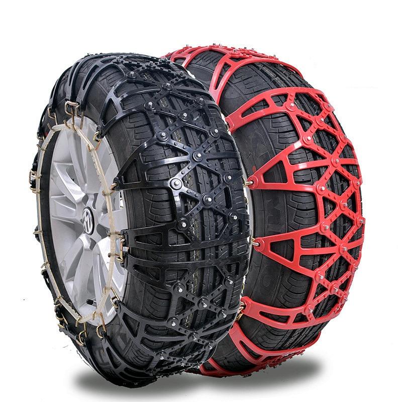 Diseño de patente 2 piezas de alta calidad grueso de goma de invierno Snowfield neumático de coche completamente cerrado antideslizante cadenas + instalación herramienta