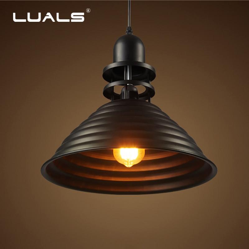 LED Decken Glas Vintage Retro Pendel Leuchte Loft Edison RGB