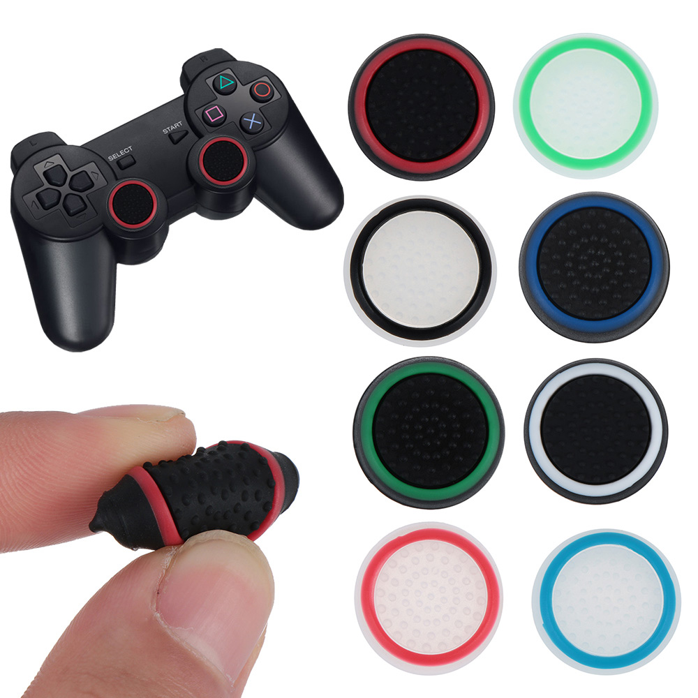 2 Pairs Replacement Silicone Thumbsticks Joystick Cap Cover For PS3/PS4/XBOX ONE/XBOX 360 Wireless Controllers Anti-slip Cap