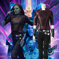 Guardians of the Galaxy 2 Gamora Cosplay Costume Halloween Carnival Costume Fancy Suit Short Jacket Adult Women Clothes Any Size