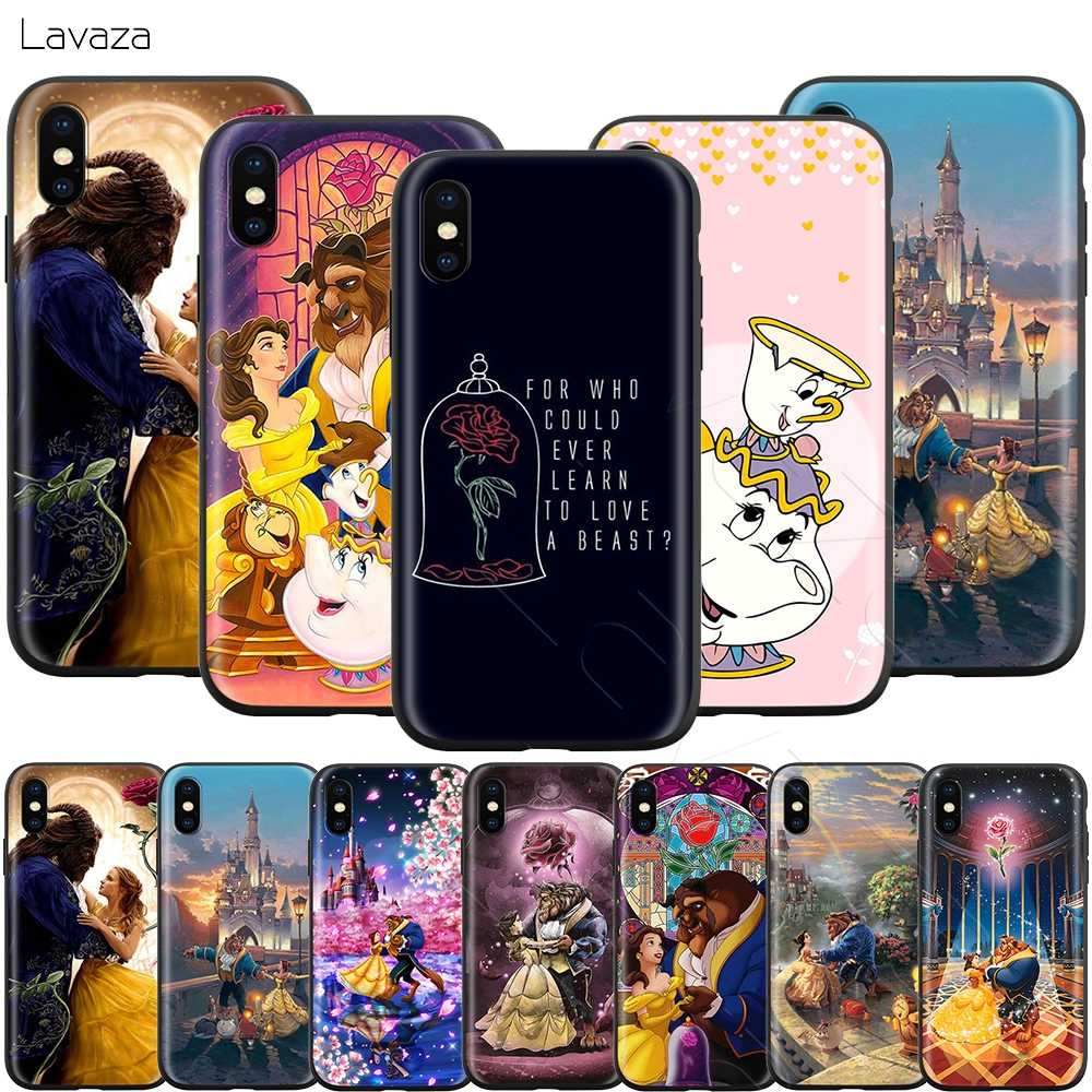 Lavaza Beauty Beast Rose Princess สำหรับ iPhone 11 Pro XS Max XR X 8 7 6 6S Plus 5 5s se