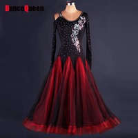 2018 Ballroom Competition Dance Dress Kaka Dance Dresses Flamenco Dress For Latin Dance Dress Women For Dance DQ19048