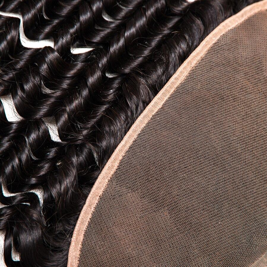 Vague profonde brésilienne oreille à l'oreille pré pincée - Cheveux humains (noir) - Photo 4