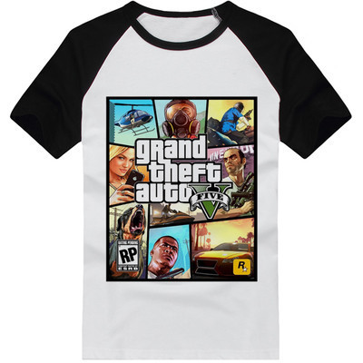 New Novely Adolescent Grand Theft Auto  GTA 5 Sitcoms T shirt Men Casual Short-sleeve T-shirt Male