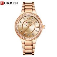 CURREN marque de luxe femmes montres décontractées étanche montre bracelet femmes mode robe strass en acier inoxydable dames horloge