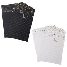 Buy 12pcs/pack Starry Sky Writing Letter Stationery Romantic Creative Small Fresh Japanese Style Letterhead Note Paper directly from merchant!