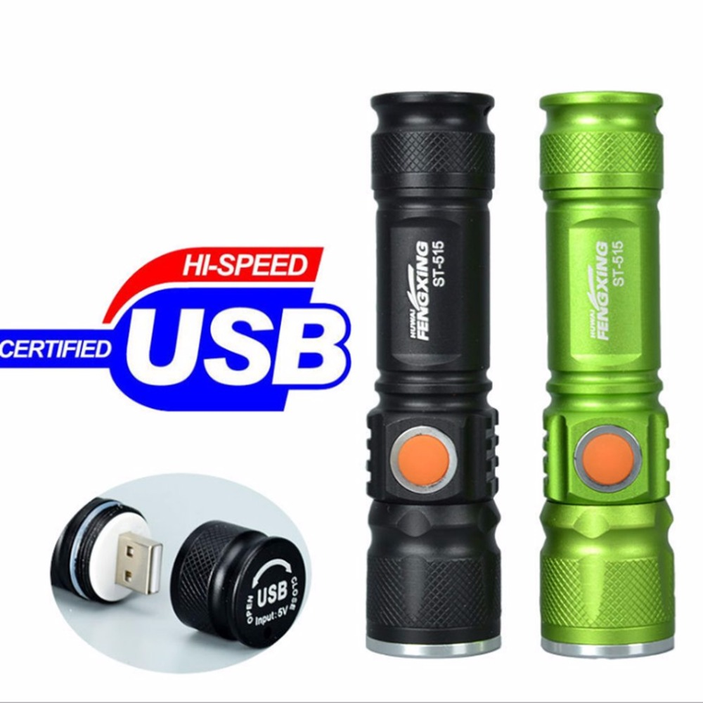 Portable Mini USB Rechargeable LED Flashlight Outdoor Camping 3 Mode Focus Adjustable Strong Light Torch Bicycle Headlight Hot