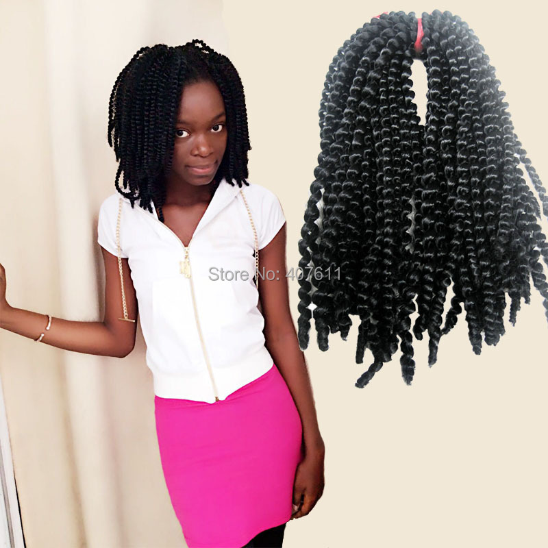 Nubian Twist Me Synthetic Kinky Curly Hair Extension Black Bomb Hair
