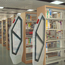 EM theft alarm system for book,school library anti theft system 2 pcs eas system for book ,library access control